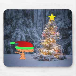 A Cats Christmas Tree Mouse Pad