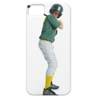 a caucasian male child dressed as a baseball iPhone 5 cover