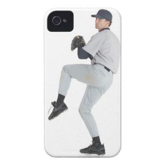 a caucasian man wearing a white baseball uniform iPhone 4 case