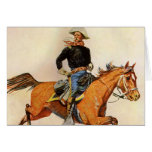 A Cavalry Officer by Remington, Vintage Military Greeting Card