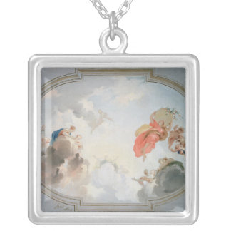 A Ceiling Design depicting the Apotheosis of Silver Plated Necklace