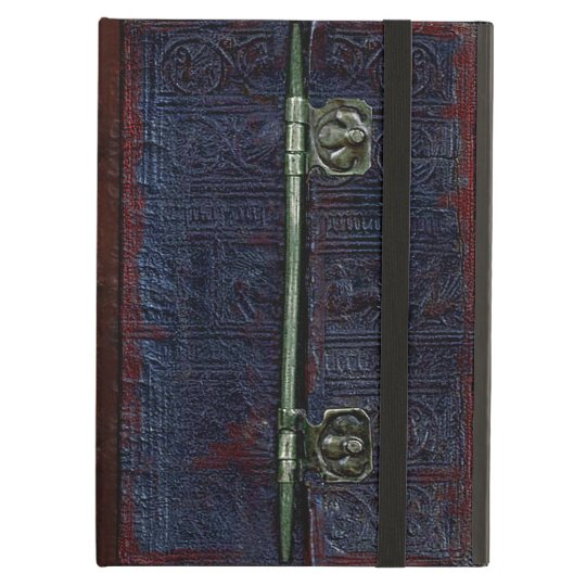 A Centuries Old Worn Leather And Brass Book
