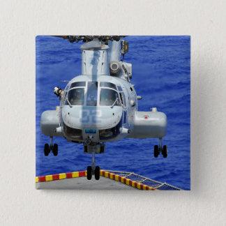 A CH-46E Sea Knight helicopter 15 Cm Square Badge