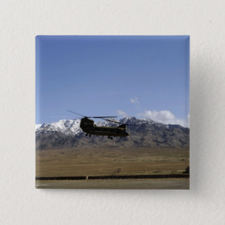 A CH-47 Chinook takes off 15 Cm Square Badge