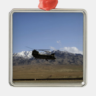 A CH-47 Chinook takes off Christmas Ornament
