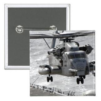 A CH-53E Super Stallion helicopter 15 Cm Square Badge