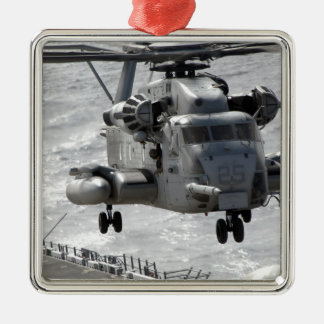A CH-53E Super Stallion helicopter Christmas Ornament
