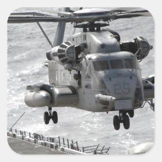 A CH-53E Super Stallion helicopter Square Sticker