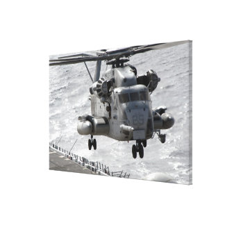 A CH-53E Super Stallion helicopter Stretched Canvas Print