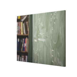 A chalkboard canvas print
