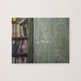 A chalkboard jigsaw puzzle