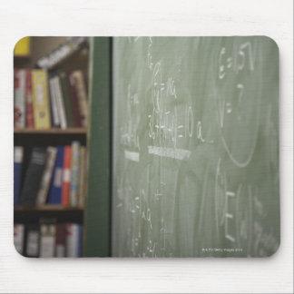 A chalkboard mousepads