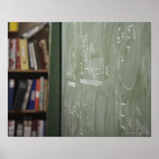 A chalkboard posters