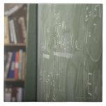 A chalkboard tile