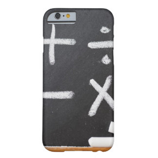 A chalkboard with mathematic symbols on it barely there iPhone 6 case