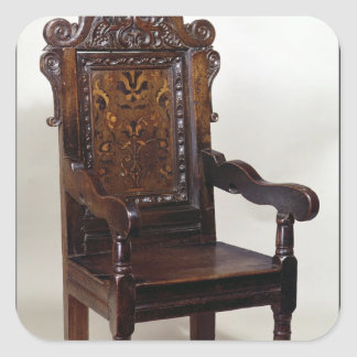 A Charles I armchair, mid 1600s Square Sticker