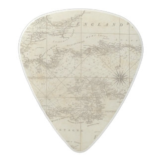 A chart of the British Channel Acetal Guitar Pick