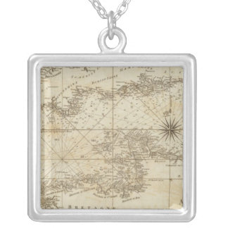 A chart of the British Channel Silver Plated Necklace