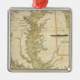 A Chart of the Chesapeake And Delaware Bays Christmas Ornament