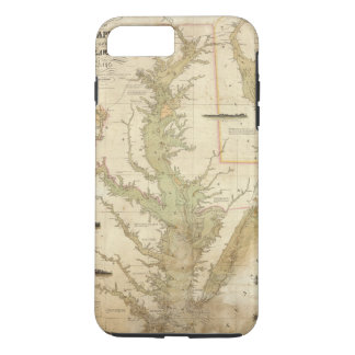 A Chart of the Chesapeake And Delaware Bays iPhone 8 Plus/7 Plus Case