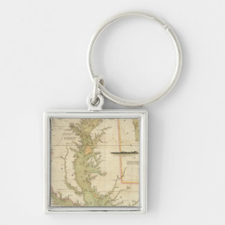 A Chart of the Chesapeake And Delaware Bays Key Ring