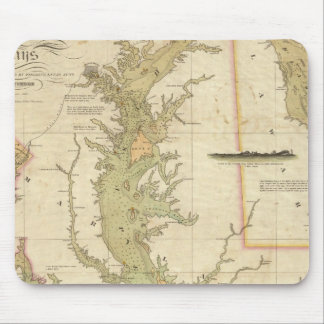A Chart of the Chesapeake And Delaware Bays Mouse Mat