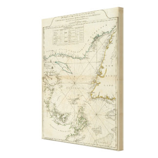 A Chart Of The Gulf Of St Lawrence Canvas Print