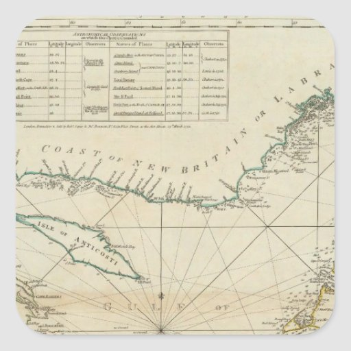 A Chart Of The Gulf Of St Lawrence Stickers