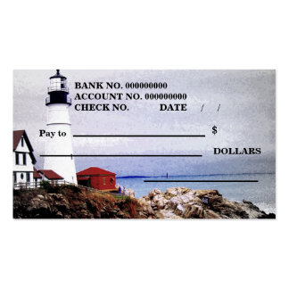 A Check. Business Card