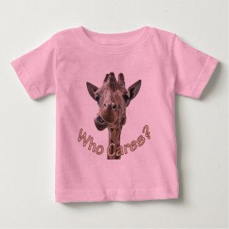 A cheeky Giraffe with attitude Baby T-Shirt
