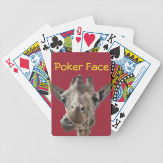 A cheeky Giraffe with attitude Bicycle Playing Cards