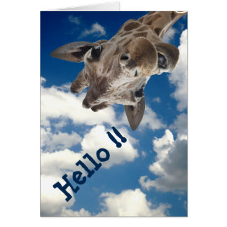 A cheeky Giraffe with attitude Card