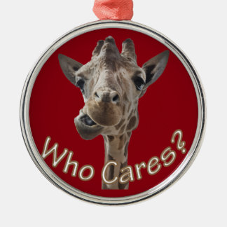 A cheeky Giraffe with attitude Christmas Ornament