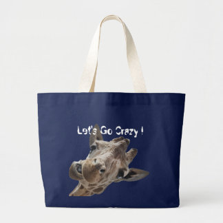 A cheeky Giraffe with attitude Large Tote Bag