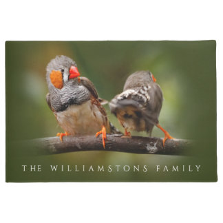 A Cheeky Pair of Zebra Finches Doormat