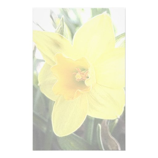 A Cheerful Yellow Daffodil Customised Stationery