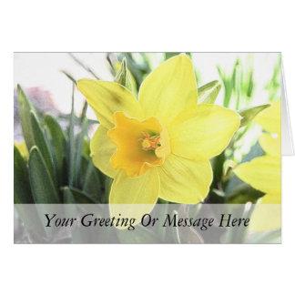 A Cheerful Yellow Daffodil Greeting Card