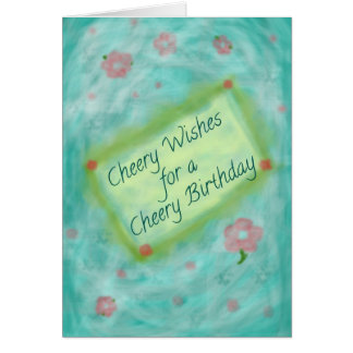 A Cheery Birthday Greeting Card
