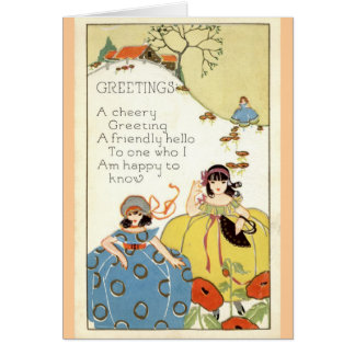 A Cheery Greeting Repro Vintage 1913 Greeting Card