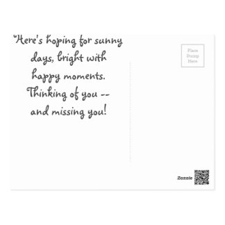 A Cheery Missing You Note Postcard
