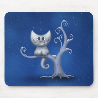 A Cheshire Kitten (Christmas) Mouse Pad