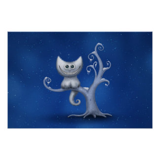 A Cheshire Kitten (Christmas) Poster