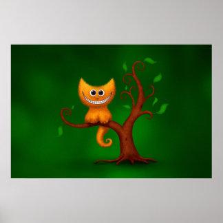 A Cheshire Kitten Print