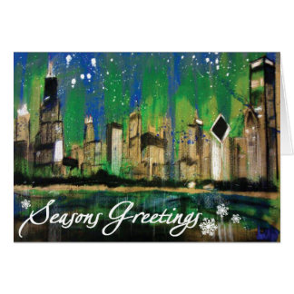 A Chicago seasons greetings Card