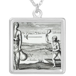 A Chief Lady of Pomeiock Silver Plated Necklace
