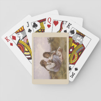 A Childhood Idyll by Bouguereau Playing Cards