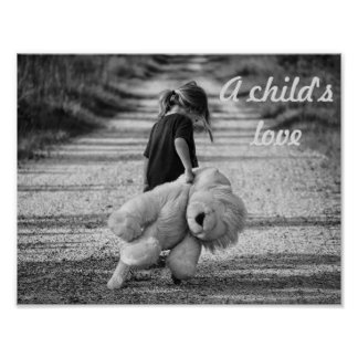 A child's love poster