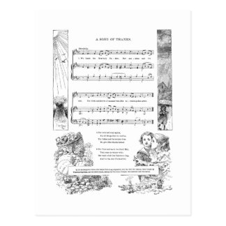 A Child's Song of Thanks Postcard