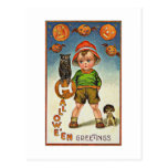 A Child's Spooky Vintage Halloween Post Cards