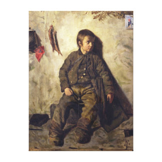 A Chimney Sweep from Savoie, 1832 Canvas Print
